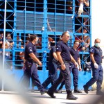 Guards in the detention centre Pagani, August 20, 2009