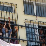 women and children inside the detention centre Pagani