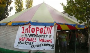 Tent, Infopoint in Mytilini