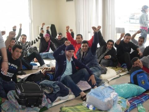 Hunger strikers in Thessaloniki